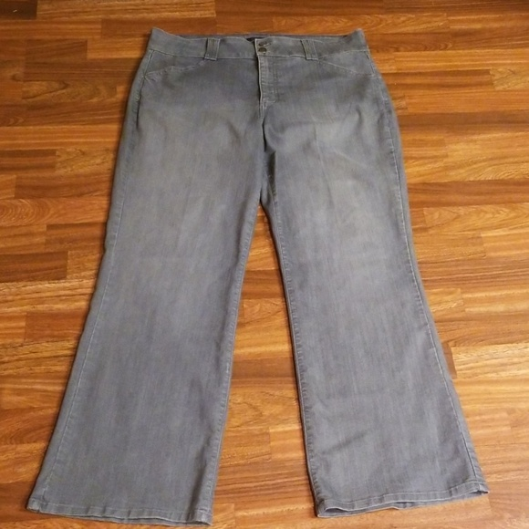 NYDJ Denim - NYDJ Gray Denim Trousers Sz. 18W
